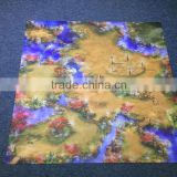 Large size table war game kids play mat,waterproof kids toy play mat with custom printing.