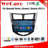Wecaro WC-HV1016 10.2 inch android 4.4/5.1 touch screen car dvd gps for hyundai verna 2011 + With Wifi 3G Radio RDS Navigation