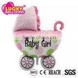 China wholesale nylon material baby carriage baby shower helium foil balloon
