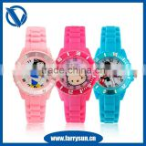 2015 Custom cute cartoon silicone wrist watches silicone band watch                                                                         Quality Choice