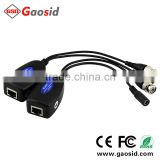 1 channel AHD/CVI/TVI video & power supply UTP video balun passive rj45 video and power balun