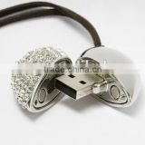 OEM Jewelry heart shape usb flash drive, gift heart usb flash drive 1gb to 64gb,wholesale price usb memory stick