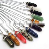 NE2317 Fashion healing crystal point pendant necklace                                                                         Quality Choice