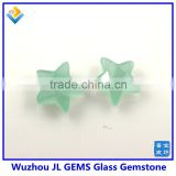 Light Green Synthetic Crystal Star Shape Glass Loose Gem Stone For 925 Sterling Silver Jewelry