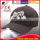 factory supply customized logo LED light baseball cap