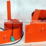 Customize silicone rubber heating blanket for barrel with CE RoHS certification