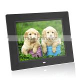 Ultrathin 8 inch HD LCD Digital Picture Photo Frame Alarm Clock MP3 MP4 Movie Player with Remote Control Black/White