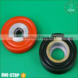 Engineering plastic power transmission parts wear resistance rubber pu pulley for sliding board