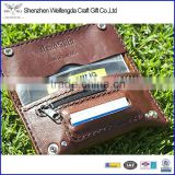 Top grade unique design genuine leather tobacco pouches with zipper pocket                                                                         Quality Choice