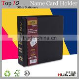 Wholesale 2 ring binder business card holder cardholder custom men name card holder