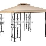 FG-123 3x3m metal outdoor gazebo with double roof