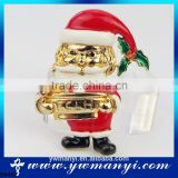 China Supplier Fashion Jewelry Santa Claus Christmas Brooch For Gifts B0482