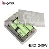 2016 Newest HERO 240W Temp control box Mod Unique design 240watts box mod ecig mods High end e cig device