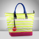 M122-2013 hot sale canvas jelly candy bag,plastic fashion handbag
