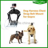 Dog Sport Pulling Harness Chest Strap Belt Mount for Go Pro HERO4 Silver 3+ Black Edition 3 2 DOG Strap