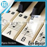 Custom Transparent Sticker,Piano Keyboard Keymap Notemap Removable Vinyl Stickers