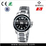 Japan movement stainless steel and ceramic case and band fully automatic machine movement watch