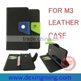 two color matching leather cases for xiaomi mi3 with wallet and card holders mobile phone accessories