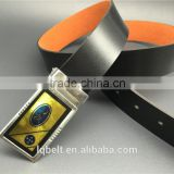 very cheap belt Men's smooth buckle belt punch man wholesale 100%Factory belts for men PVC plastic rubber as gift