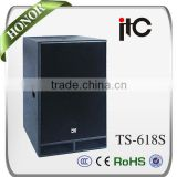 ITC TS-618S 600W 8ohm 18mm Plywood Enclosure Conference Room Used 18 inch Subwoofers for Sale