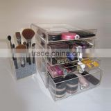 A Set of Acrylic Makeup Organizer,Cosmetic Box with Drawers