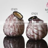Glass Beach Series Shell Shaped Colored Bud Vase Wedding decoration glassware
