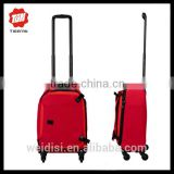 Hot sale wheeled trolley cabin luggage brand name cheap fancy sky travel luggage bag