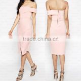 Women's Sleeveless Knee Length Party Evening Bustier Wrapped Dress OEM Type ODM Manufacturer Clothes Apparel Factory Guangzhou