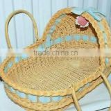 decorative wicker baskets for baby baby portable basket with hood