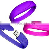 High Quality Promotional Silicone Wristband Bracelet USB 2.0 3.0 Memory Stick Flash Pen Drive 4GB 8GB 16GB 32GB U-Disk