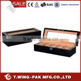 For 5 Watches Standing Window High Piano Finish Container Wooden Watch Boxes cases Wholesale