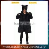 Wholesale fashion hot sale cosplay costume black bear animal costume adult costume