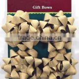 "HOT SALE! 4"" Gold Glitter PP Ribbon Christmas Ribbon Star Bow"