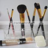 wholesale custom clear 16 compartment acrylic brush holder/acrylic makeup brush holder/acrylic cosmetic organizer