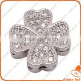BJ4543 2014 latest style flower micro pave jewerly, micro zircon bead for bracelet