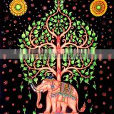 Tree with elephant Tapestry Wall Hanging Star Wall Art Universe Mandala Tapestry Queen Bohemian Tapestries Printed Fabric Beach