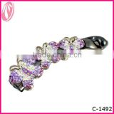 Make Hair Accessory Hair Butterfly Mini Claw Clip In Human Hair Extension