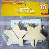 Wooden Christmas Ornament Star Set
