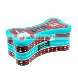 Custom metal candy tin box Wholesale Bone Shape Tin Box