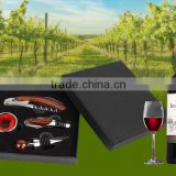 Promotional New Design High Quality paper box Wine Gift Box, Luxury Wine Opener Tool Gift Set with paper box packed