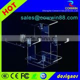 Factory direct selling customized 5 tier acrylic makeup organizer / wholesale plexiglass