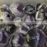 Natural Rock Amethyst Geode Uruguay Sphere Smile Crystal Ball On Sale