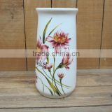 Flower Decal Paper Cup Holder Made of Ceramic