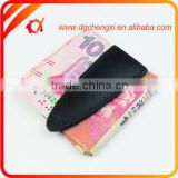 2015 New Products Hot Selling Promotion Gifts Saffiano Cuir Leather Wallet Metal Money Clip