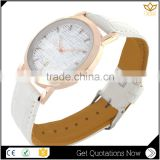 Wholesale price mechanical watch white leather hot noble style quartz watch man Y013