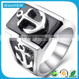 Wholesale Fashion Jewelry Anchor Silver Men Ring