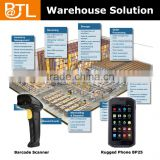 Warehouse Management System Solution, BATL BP25 ip67 rugged nfc phone witn barcode scanner