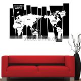 Large Colorful decal world map wall stickers