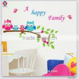 High Quality Made In China Cartoon Animals Design Eco-Friendly PVC Waterproof Removable Kids Cartoon Static Stickers