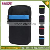 Waterproof nylon leisure wrist bag for wallet and phone